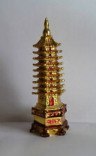 GOLDEN FENG SHUI EDUCATION TOWER FOR ACADEMIC SUCCESS FOR CHILD'S STUDY TABLE