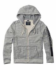 New Abercrombie & Fitch By Hollister Men's Graphic Logo Hoodie 2016 Grey Nwt