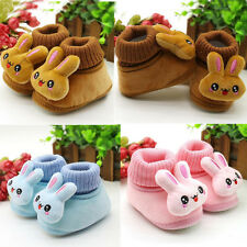 1Pair Girls Cartoon Baby Boys Cotton Shoes Winter Ankle Knit Snow Boots Warm