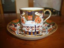 FINE ANTIQUE EARLY ROYAL CROWN DERBY IMARI BONE CHINA CUP AND SAUCER. #1.C1810..