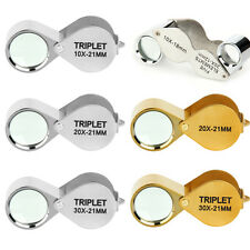 Hot Foldable Magnifier 30x 21mm Jewelers Loupe Eye Glass Magnifying Magnifier