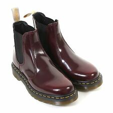 Dr Martens Women's Vegan 2976 Cambridge Brush Chelsea Boot Cherry Red