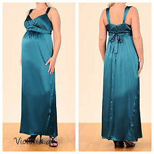 NEW A PEA IN THE POD Full length Silk Maternity maxi Dress Gown size S M