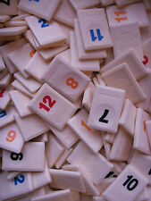 REPLACEMENT RUMMIKUB TILES. **CHOOSE YOUR NUMBER** MOTIF BACK.  SPARE/GAME PARTS