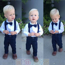 Matching Clip-on Suspender + Bowtie for Kids Toddler Boys Girls with Gift Box