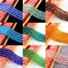 New Czech Rondelle Bicone Crystal Glass Spacer Loose Beads Jewelry Free Shipping