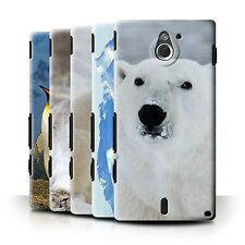 STUFF4 Back Case/Cover/Skin for Sony Xperia Sola/MT27i/Arctic Animals
