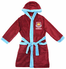 Kids & Adults Dressing Gown Fleece WEST HAM United Official Bathrobe