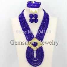 African Jewelry Set 18K Wedding crystal Beads Fashion necklace earrings bracelet