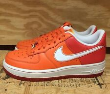 NIKE WOMENS AIR FORCE 1 LOW WHITE ORANGE WMNS SZ 6-12  315115-811 L