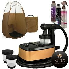 Aura Allure Spray Tan Machine Kit with Norvell Tanning Solution and Tent (Bronze