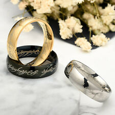 Lord of the Rings THE ONE RING OF POWER Golden Popular Ring in 4 sizes