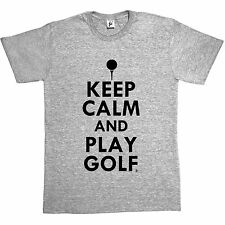 Keep Calm & Play Golf - Golf Ball Mens T-Shirt
