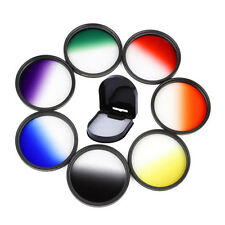 Graduated Color Filter Green Orange Red Purple Yellow Blue Grey Camera lens