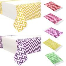 Outdoor Picnic Party Plastic Chevron Zig Zag Disposable Table Cover Tablecloth