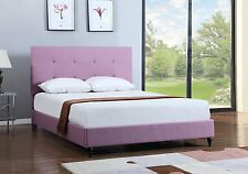 Platform Bed Frame Full King Queen Size Upholstered Headboard Bedroom Furniture