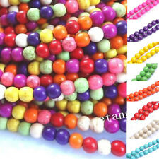 4-10mm Colorful Turquoise Round Charm Loose Spacer Beads Jewelry Free Shipping