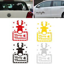 1pc Merry Christmas Reindeer Car Home Window Decorative Funny Sticker Decal New