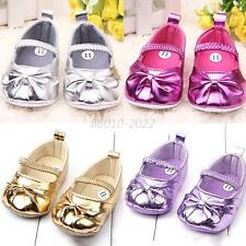 Toddler Baby Girls Princess Shoes PU Leather Bowknot Soft Sole Crib Trainers