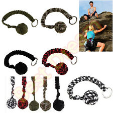 Portable Monkey Fist Self Defense Security Military Paracord Steel Ball Keychain