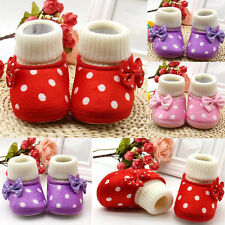 1 Pair Girl Newborn Shoes Toddler Cute Soft Sole Boots Warm Infant Baby Pop