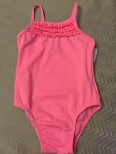 NWT Baby Gap Girl pink ruffled one-piece bathing suit swimsuit 3 3t 4 4t 5 5t