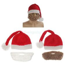 Novelty Mens Christmas Costume Red Santa Claus Hats Winter Warm Wind Mask Caps