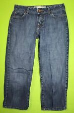 EUC Gap Curvy Low Rise Capris sz 4 Womens Blue Jeans Denim Pants Stretch EP46