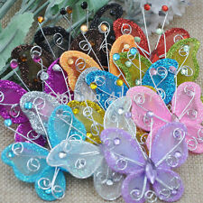 10pcs Beauty artificial Stocking Butterfly Wedding Decorations Party Christmas