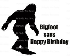 Bigfoot, Yeti, Sasquatch Birthday ~ Frosting Cake Topper ~ Edible Image ~ D21848