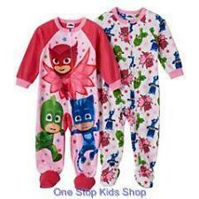 PJ MASKS Toddler Girls 2T 3T 4T Footed Pajamas BLANKET SLEEPER Pjs Disney