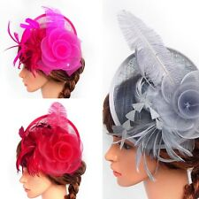 Fashion Women Fascinator Hat Headpiece Feather Cocktail Wedding Party Headband