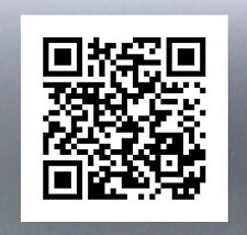 QR Code sticker to link website or Facebook Page Business stickers Bar-code New
