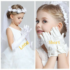 Flower Girl Dress Wedding Birthday bridesmaid girl's long gloves short mittens 6