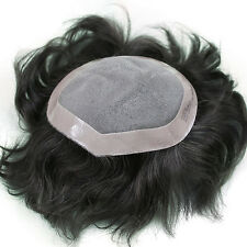 Majik THIN SKIN SUPER SOFT PU MEN HUMAN HAIR TOUPEE HAIRPIECE REPLACEMENT ...!!