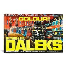 iCanvasART Dr. Who and The Daleks Vintage Movie Poster Canvas Art Print, 70cm by