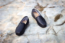 Casual Women Shoes Youth Classic Glitter Flat Loafers Shoes Black US Size 8
