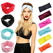 New Women Fashion Turban Twist Knotted Headband Head Wrap Hair Band Accessories