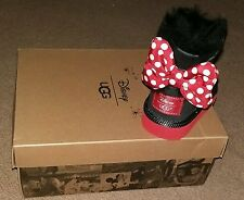 Ugg Disney Minnie Mouse Boots Child Size UK 2 Black LIMITED EDITION