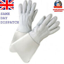 NEW GAUNTLETS REAL LEATHER PIPER DRUMMER WHITE/BLACK LEATHER QUALITY GLOVES