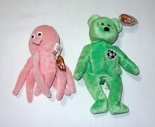 Ultra Rare Beanie Babies - Beanie Baby Tag/Label Error Set Lot (Inky & Kicks)