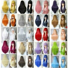 "80cm/32"" Long Straight Cosplay wig Fashion Wig 20Colors heat resistant wig"
