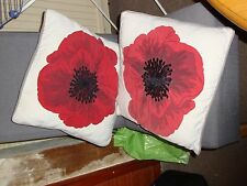 2 Next poppy cushions with cushion pads