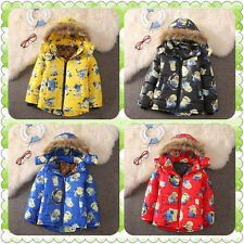 New-Kids Boys Hoodies Minions Me Zipper Coat winter Despicable Cartoon Clothes