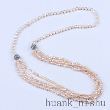 100% Real Cultured Freshwater Pearl Necklace Fine Jewelry Handmade Diy Necklace
