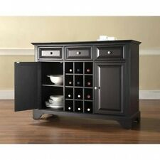 Crosley Furniture LaFayette Buffet Server and Sideboard Cabinet with Wine Storag