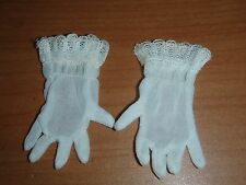 3 Pairs ORIG Cissy Doll WHITE GLOVES OLD STOCK MINT 1950S Miss Revlon Dollikin