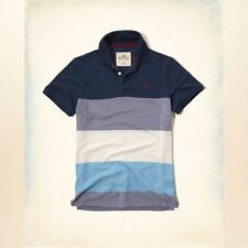NWT Hollister by A&F Mens Textured Stripe Pique Polo - Size L, XL