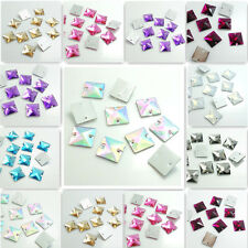 Wholesale  50pcs Sew On Resin Rhinestones Square Buttons beads DIY 16mm