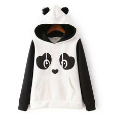 Women's Cute Panda Fleece Pullover Hoodie Sweatshirts Tops Xmas Sweater Jumper